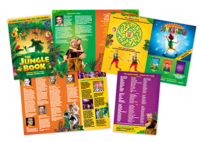 Children's musical theatre programme design for the UK tour of The Jungle Book