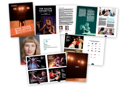 Showcase brochure for the London acting school The Salon Collective
