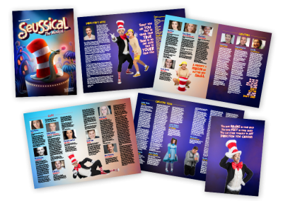 Theatre programme brochure for the UK tour of Seussical the Musical