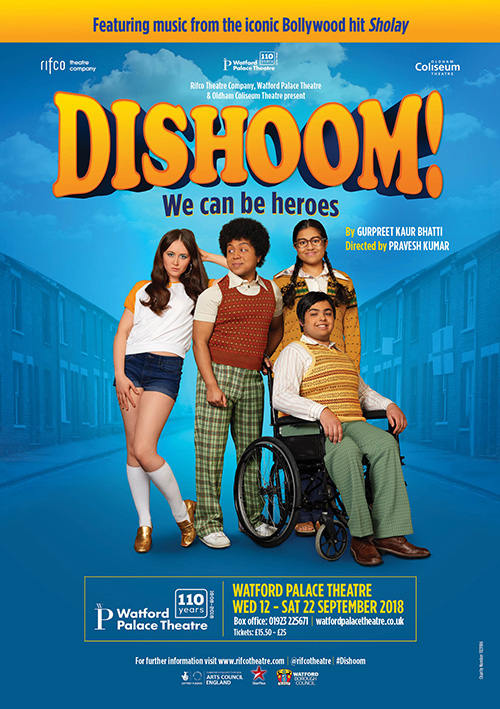 Theatre poster publicity graphic design for new touring play Dishoom