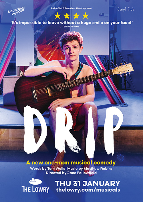 Musical comedy poster design for the UK tour of Drip