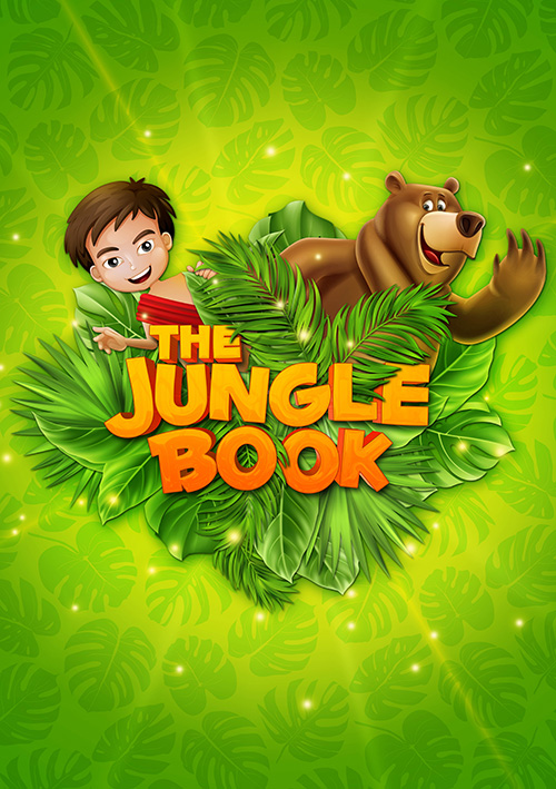 Children's musical theatre show publicity design for The Jungle Book