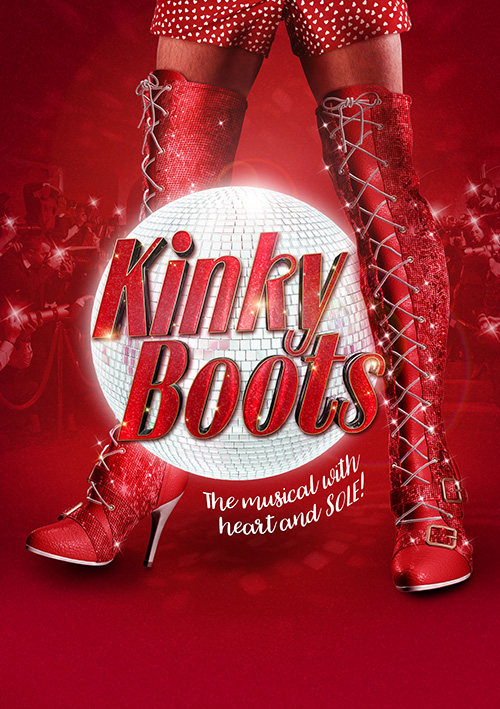 Musical theatre poster design for Kinky Boots