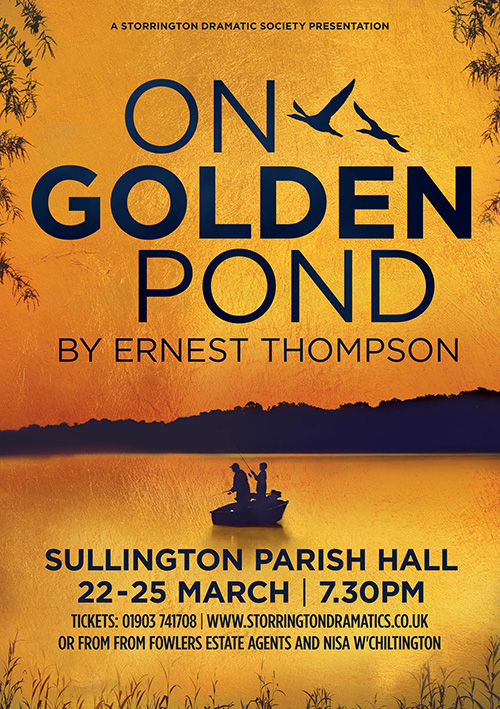 Theatre poster design for a UK production of the play On Golden Pond
