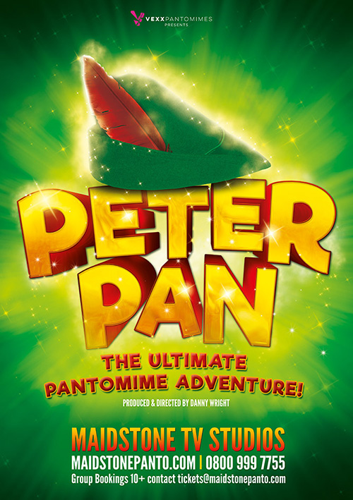 Panto poster design and graphics for Peter Pan show