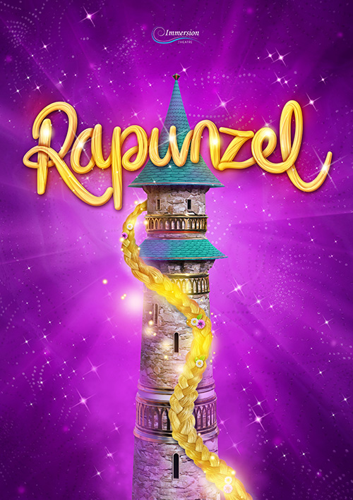 Theatre artwork design for the children's tourning show Rapunzel