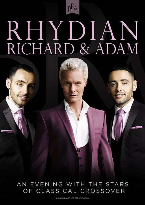 Classical crossover concert poster design for Rhydian, Richard and Adam touring show