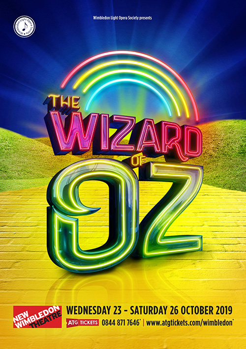 Wizard of Oz modern musical theatre poster design