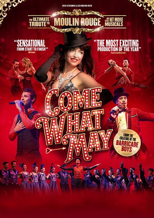 Moulin Rouge inspired concert show poster designer