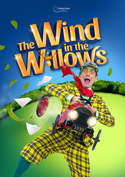 Children's theatre tour poster design for a musical production of Wind in the Willows