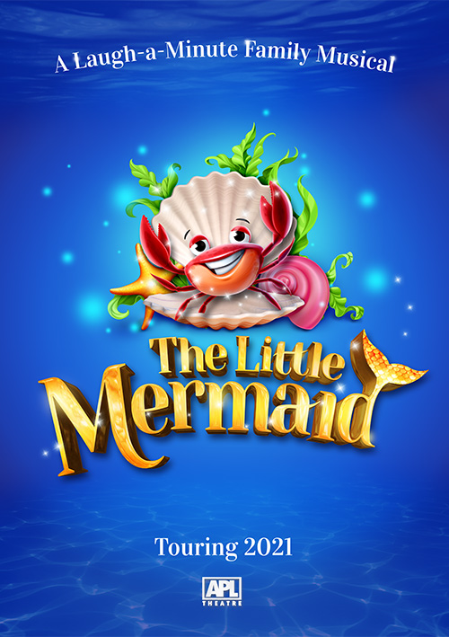 Family musical theatre show poster design for The Little Mermaid