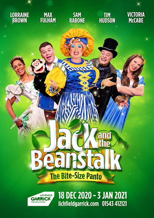 Jack and the Beanstalk pantomime poster design