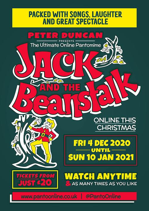 Peter Duncan online pantomime poster design