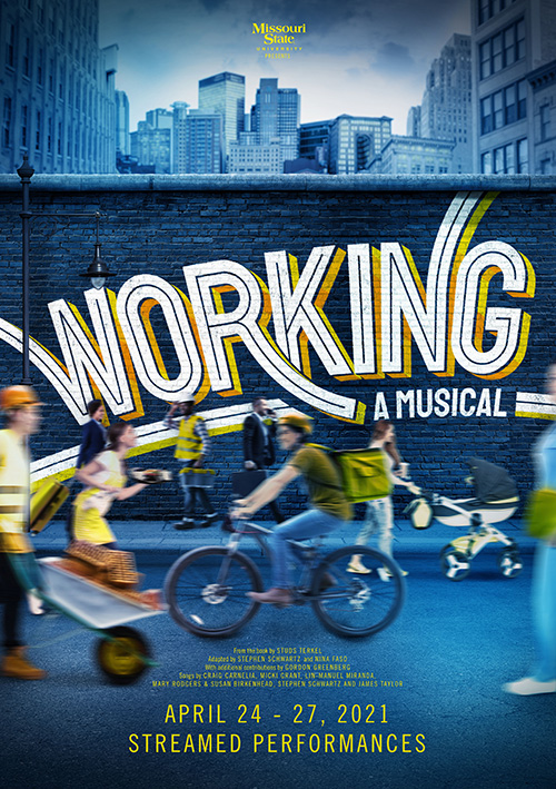 Theatrical poster design for the musical theatre show Working